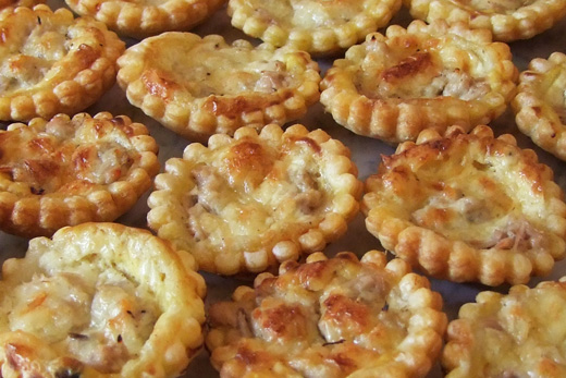 Mini tartelette au thon moutarde