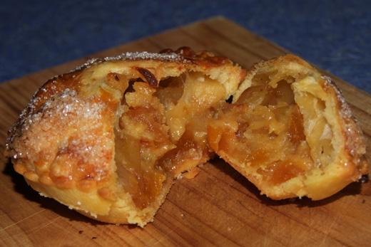 tourte pomme abricot coupée