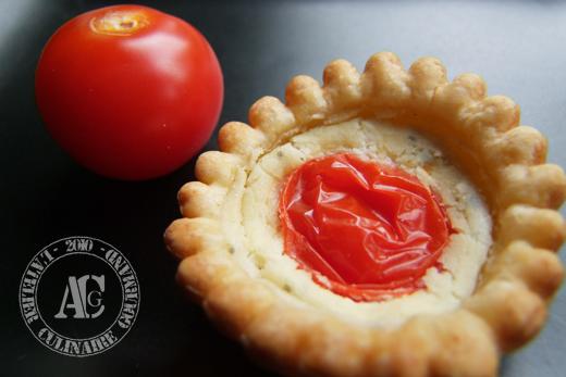 mini tartelettes boursin tomate